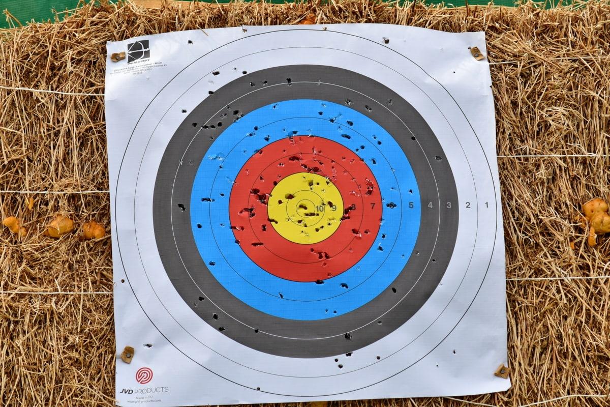 postignuće, streličarstvo, šareno, cilj, krug, slobodno vrijeme, igra, preciznost, sportski, sudjelovanje