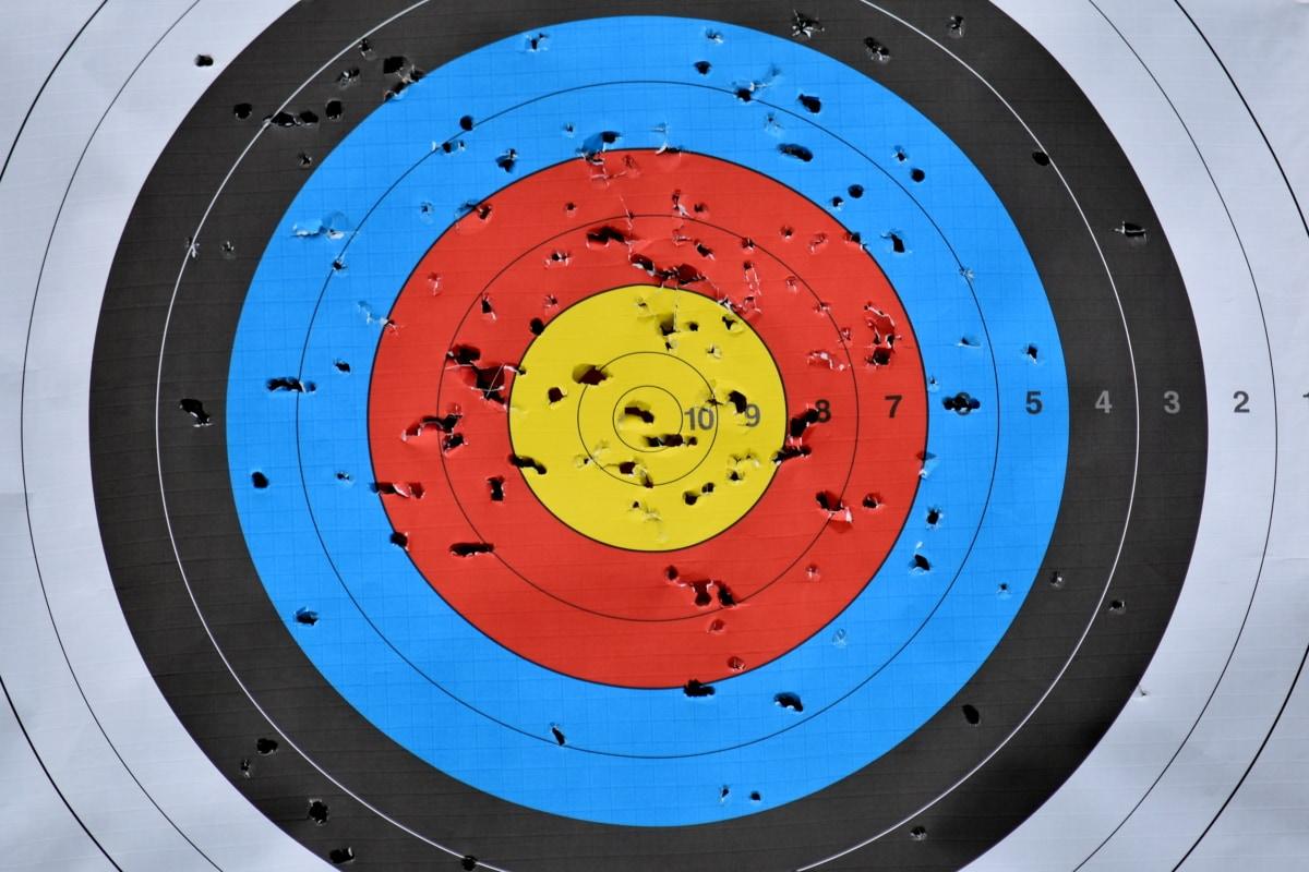 Центр, Стрільба з лука, цільової, Круглий, точність, ілюстрація, Циркуляр, удачі, дозвілля, мистецтво