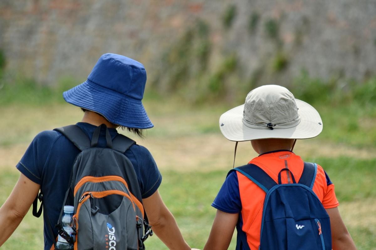 ハイキング, 冒険, レクリエーション, 草, アウトドア, 自然, 夏, レジャー, 子, 女の子