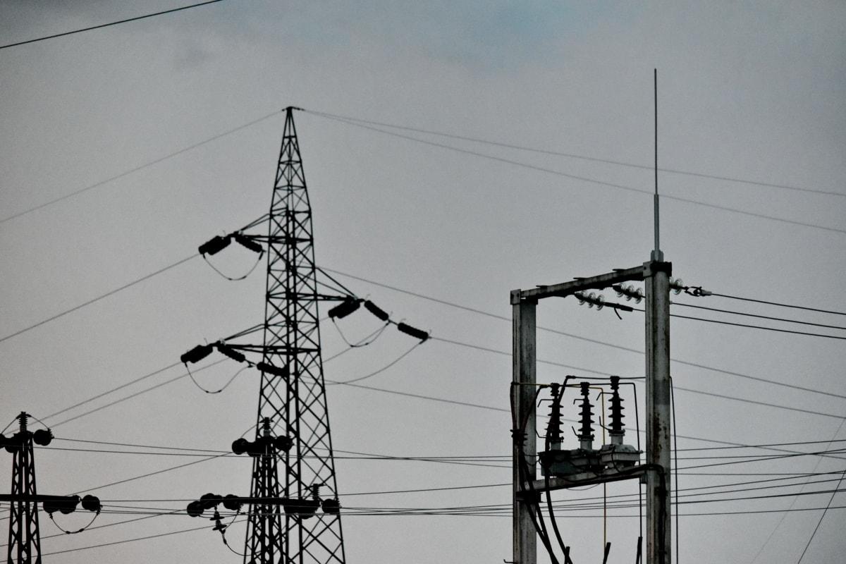 와이어, 케이블, 전압, 배포, 타워, 전기, 철 탑, 기술, 산업, 전송