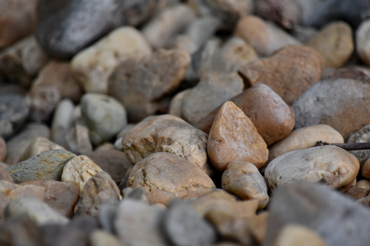 nature, stone, rock, gravel, smooth, many, rough, summer, brown, texture