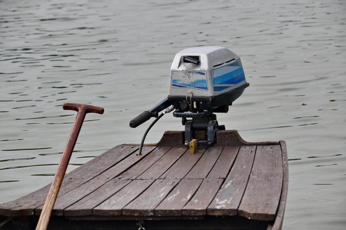 moteur, embarcation, eau, bateau, à l'extérieur, véhicule, nature, bois, Lac, été