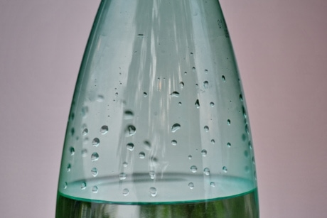 bottled water, fresh water, green, bottle, glass, wet, liquid, bubble, drink, turquoise