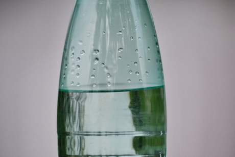 bottled water, bubble, transparent, waterdrops, wet, bottle, drink, glass, drop, liquid