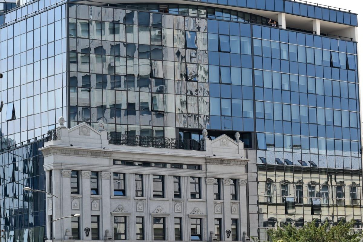 Skapa, moderna, Serbien, kontor, arkitektur, skyskrapa, staden, företag, fasad, fönster
