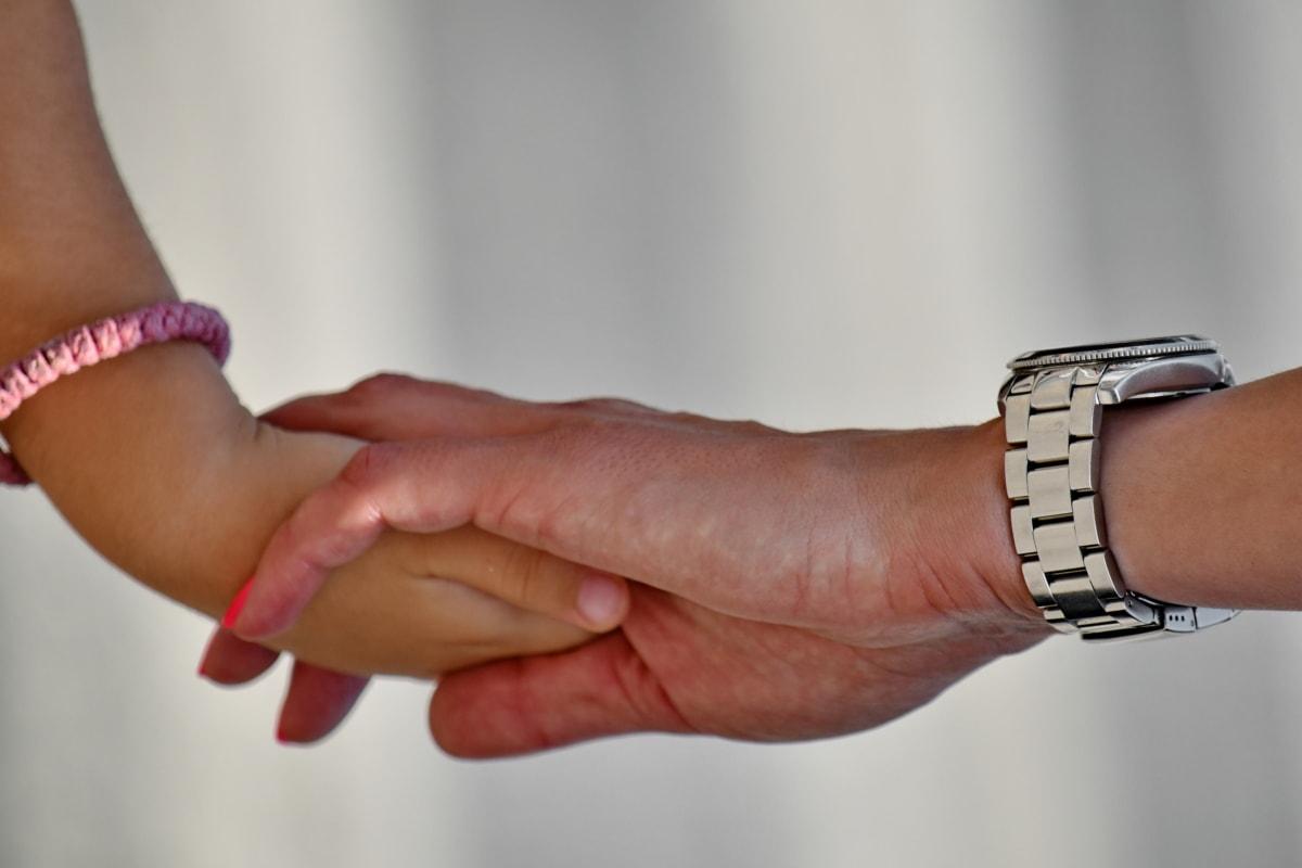 アナログ時計, 手, 腕時計, 愛, 女性, 手, 指, 人々, ブレスレット, 肌