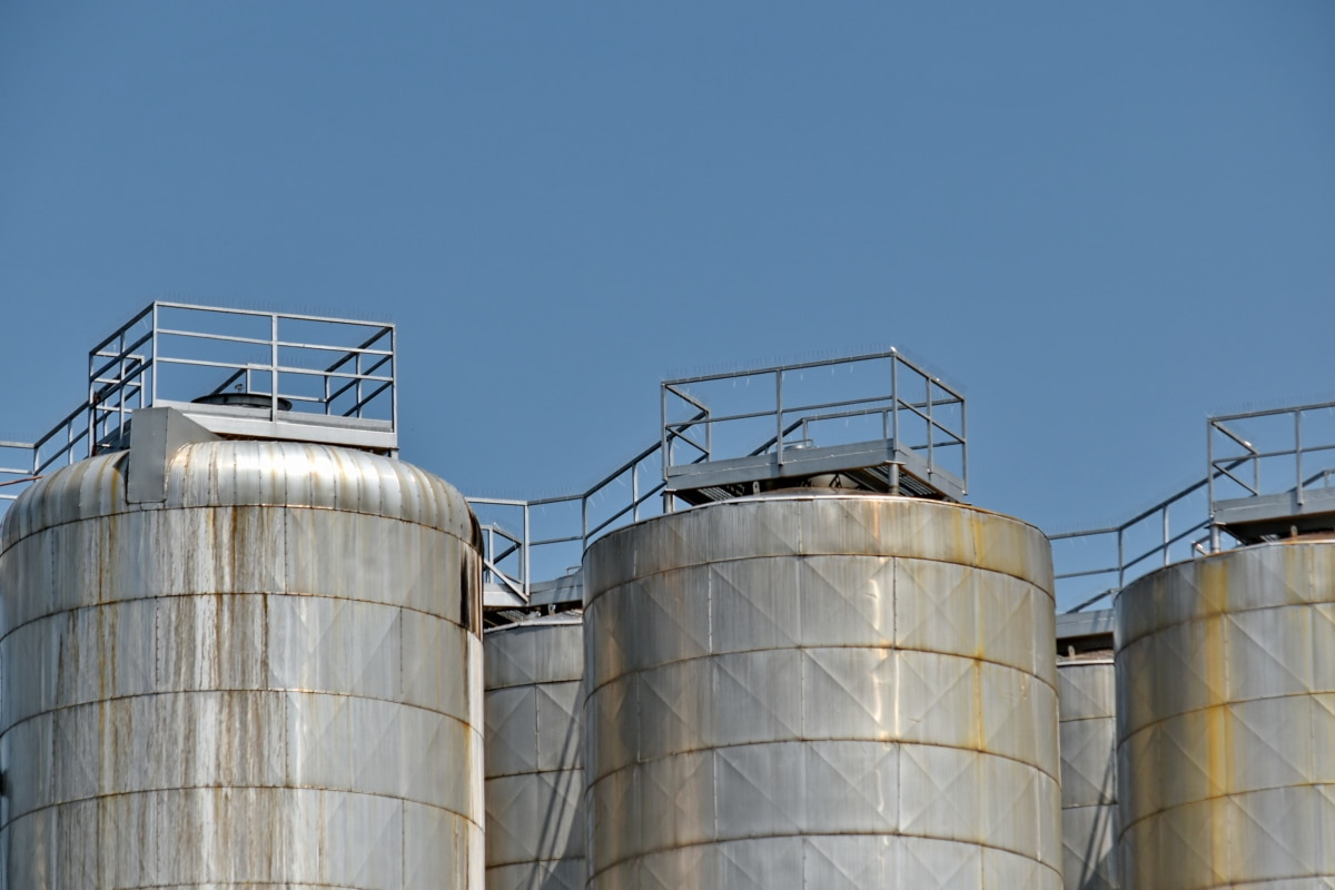 tank, reservoir, industry, steel, silo, technology, pollution, fuel, chemical, refinery