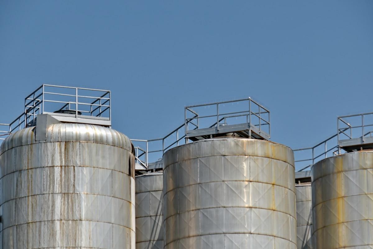 tank, reservoaret, industri, stål, silo, teknologi, forurensning, drivstoff, kjemisk, raffineriet