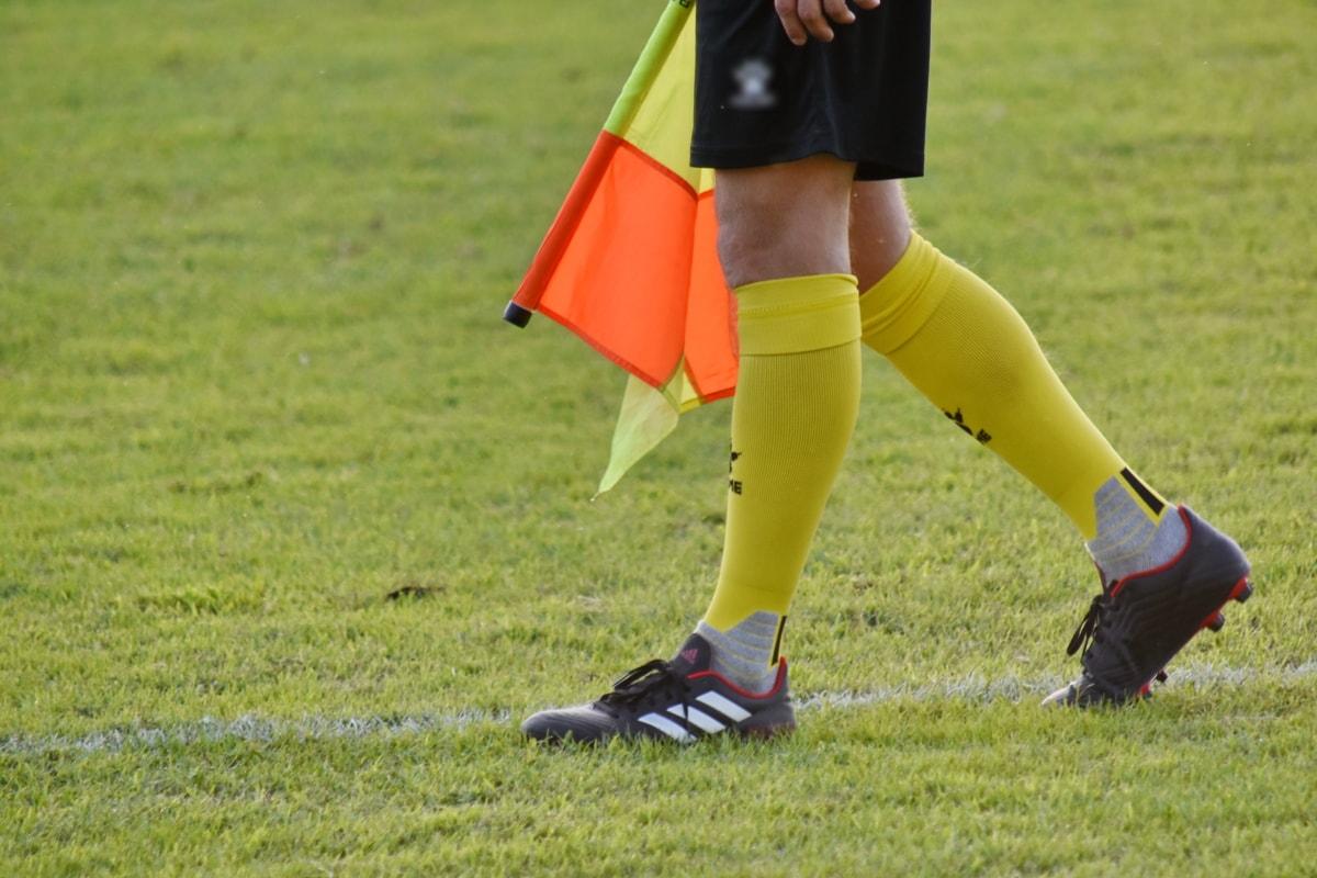 konkurencji, Flaga, Piłka nożna, Obuwie, Sport, trawa, stopy, gra, jednolite, zabawa