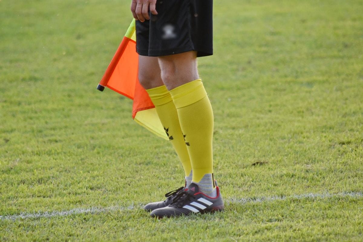 peralatan, bendera, sepak bola, olahraga, seragam, kaki, rumput, sepak bola, kompetisi, menyenangkan