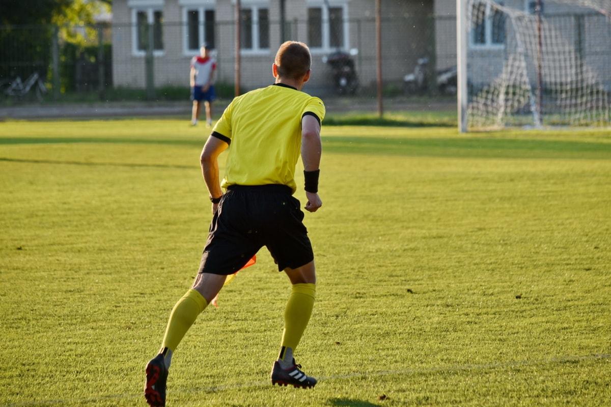 足球, 法官, 体育, 设备, 足球, 活动, 竞争, 人, 匹配, 草