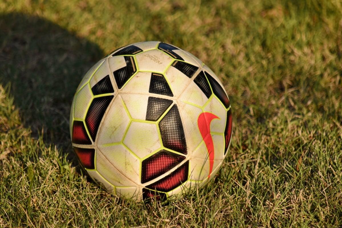 ball, game, soccer ball, grass, soccer, leather, football, sport, field, recreation