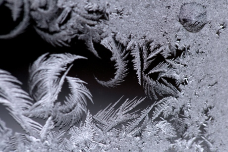 cold, details, frosty, frozen, ice crystal, snowflake, monochrome, winter, frost, snow