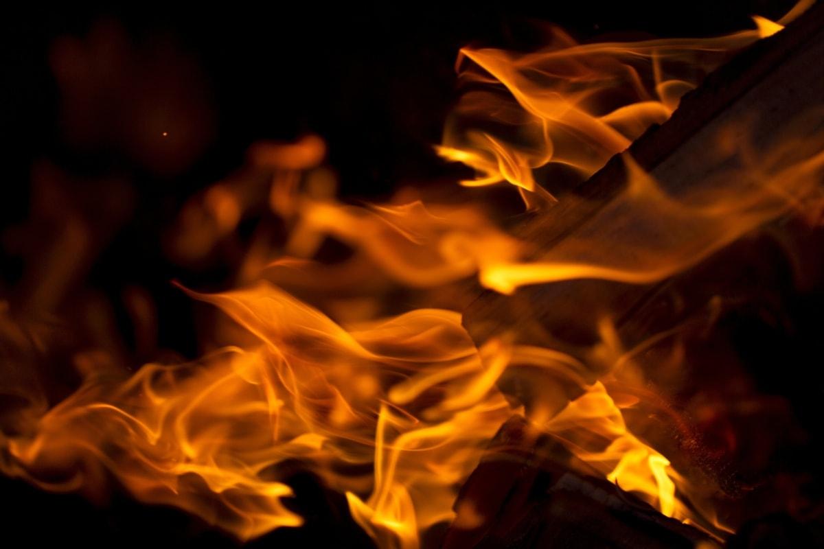 sötétség, tűz, fáklya, Láng, tűzifa, máglya, forró, tábortűz, kandalló, éget
