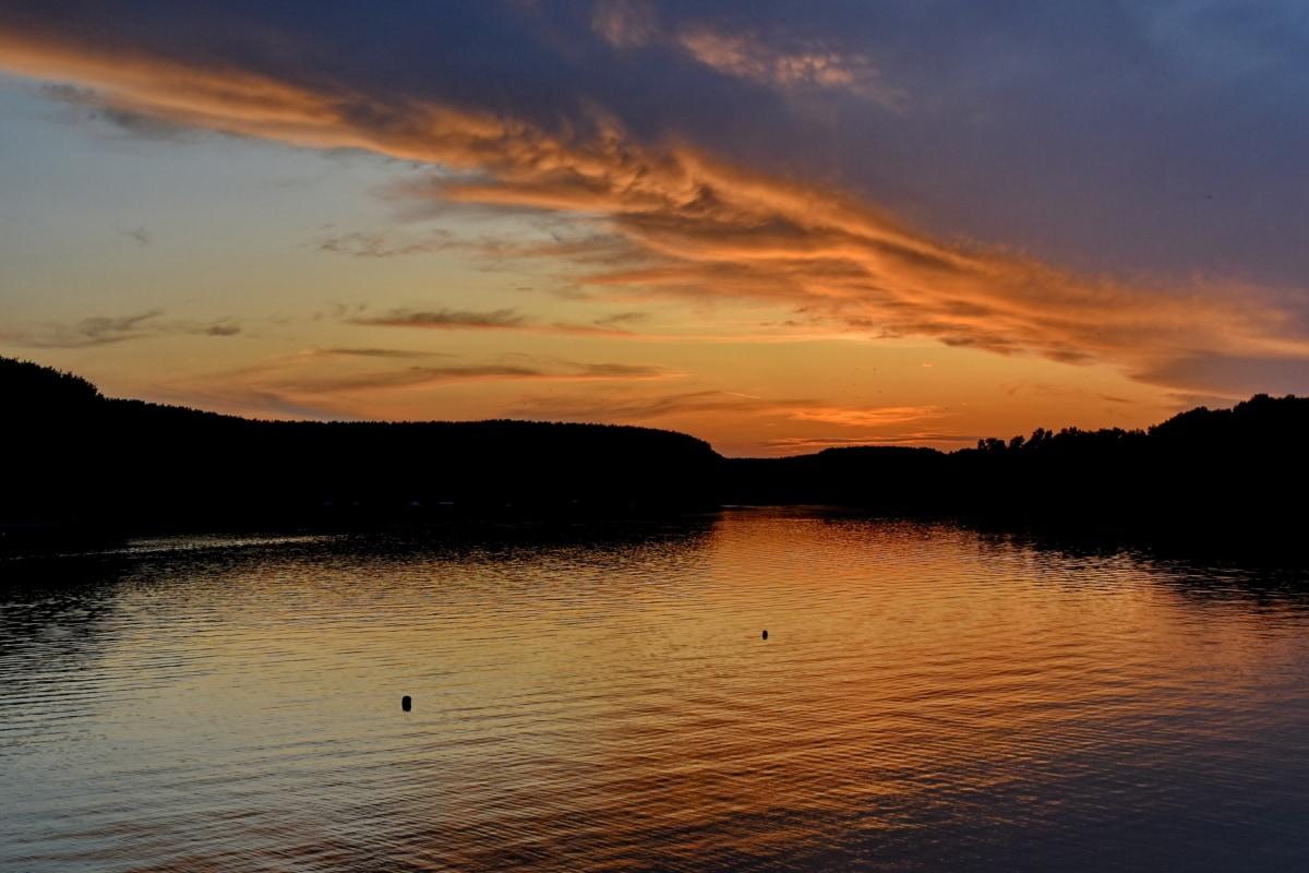 beautiful photo, sunset, sun, reflection, dawn, water, lake, beach, landscape, nature