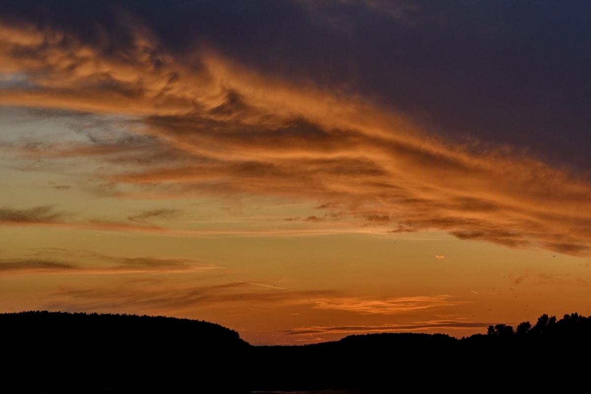 i raggi del sole, Alba, atmosfera, orizzontale, sole, nuvole, Alba, crepuscolo, sera, natura