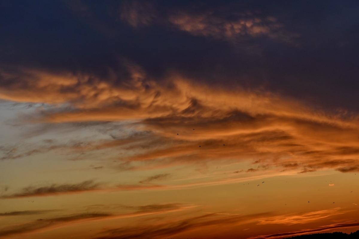 νεφελώδης, λάμψη του ουρανού, καταιγίδα, σύννεφα, τοπίο, Ήλιος, ηλιοβασίλεμα, Αυγή, το βράδυ, σούρουπο