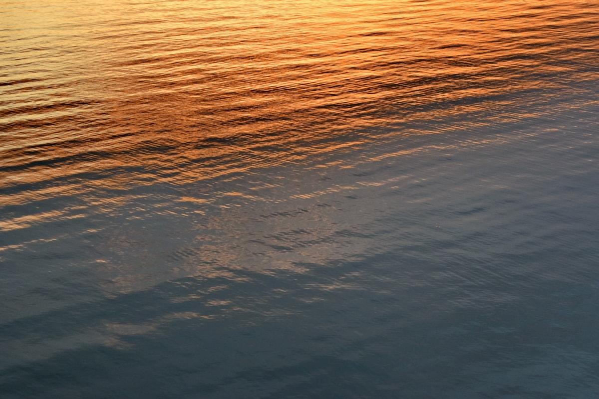 地平線, サンセット, 波, 水, 湖, 海, 太陽, 反射, 川, 夜明け