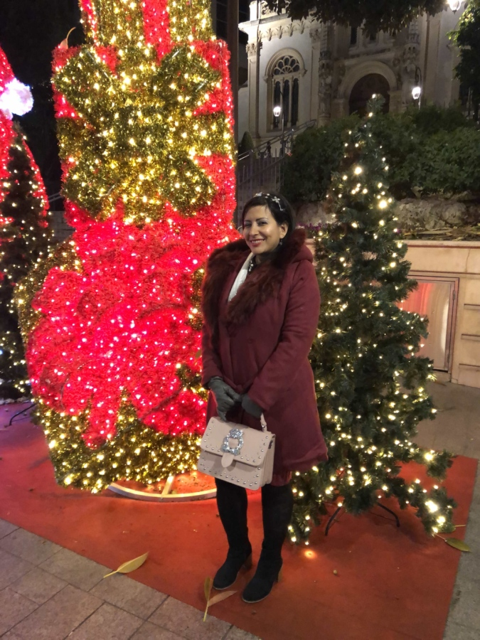 boots, celebration, christmas, decoration, face, fashion, gloves, party, pretty, pretty girl