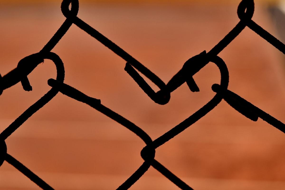 plot, tieň, silueta, železo, bariéra, oceľ, drôt, ostnatý drôt, klietka, bezpečnosť