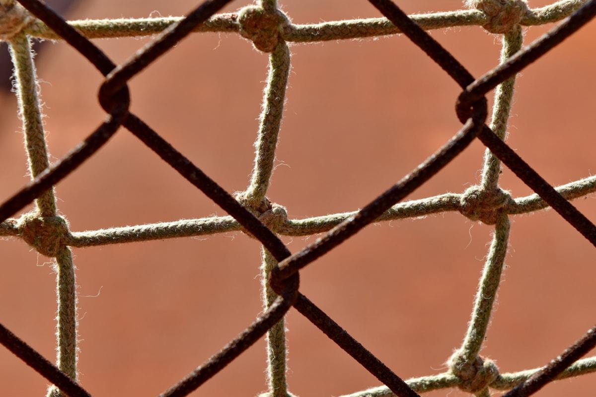 ograda, ograde, materijal, hrđe, barijera, na otvorenom, web, željezo, priroda, kavez