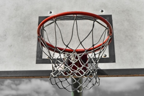 basketball court, web, basketball, basket, sport, recreation, game, playground, object, detail