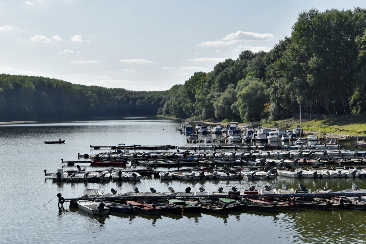 brodovi, Dunav, jezero pejzaž, naselju na području, voda, obala, rijeka, skutera, brod, jezero