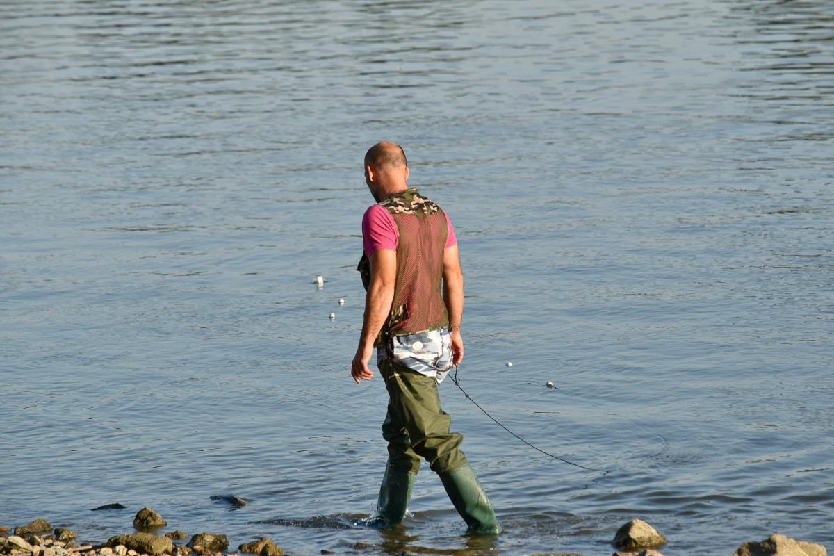 ribar, voda, plaža, rijeka, čovjek, slobodno vrijeme, rekreacija, jezero, dijete, priroda