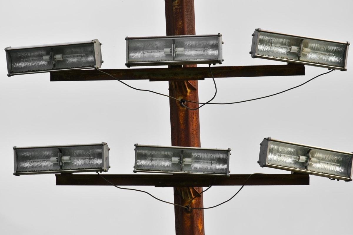 sähkön, valo, heijastin, jännite, laitteet, laitteen, tekniikka, Lanka, korkea, televisio