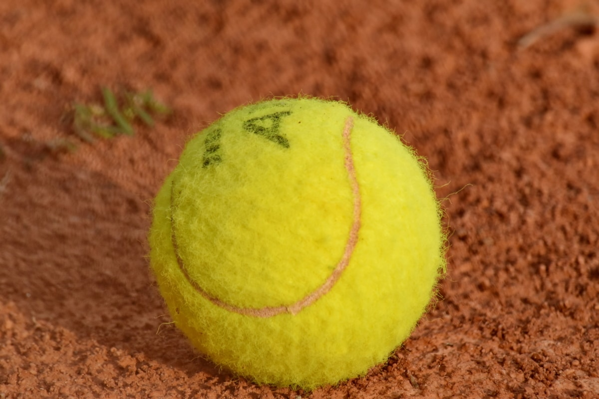 lopta, zelenkasto žuta, teniski teren, tenis, igra, natjecanje, sportski, oprema, tlo, rekreacija