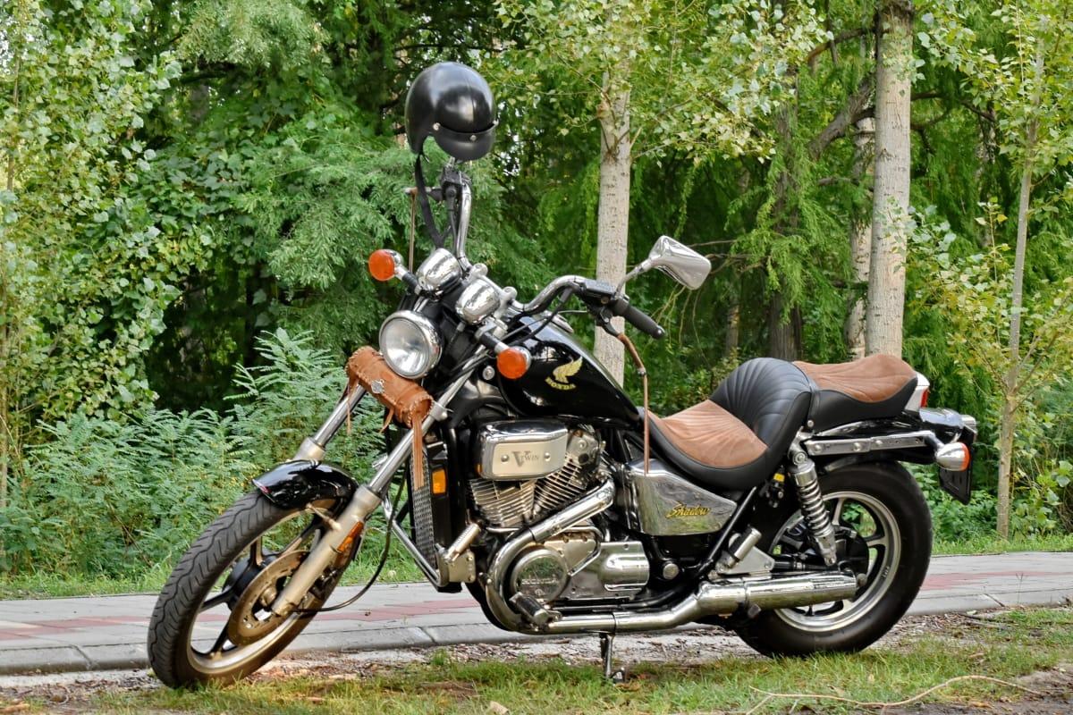 kaland, motor, erdei út, motorkerékpár, nosztalgia, motor, kerék, ülés, közúti, sisak