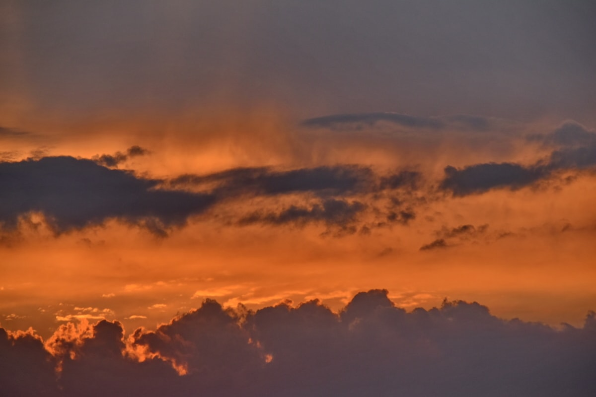 backlight, climate, clouds, orange yellow, sunset, sunspot, atmosphere, cloud, dawn, evening