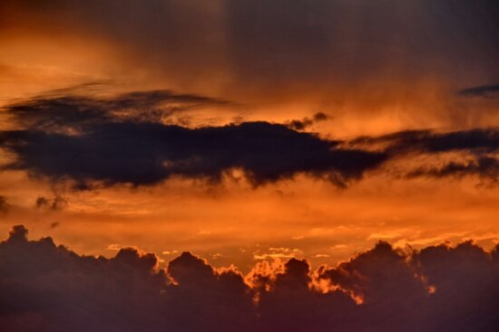 clouds, dramatic, yellowish brown, cloud, atmosphere, backlight, color, dawn, daylight, dusk