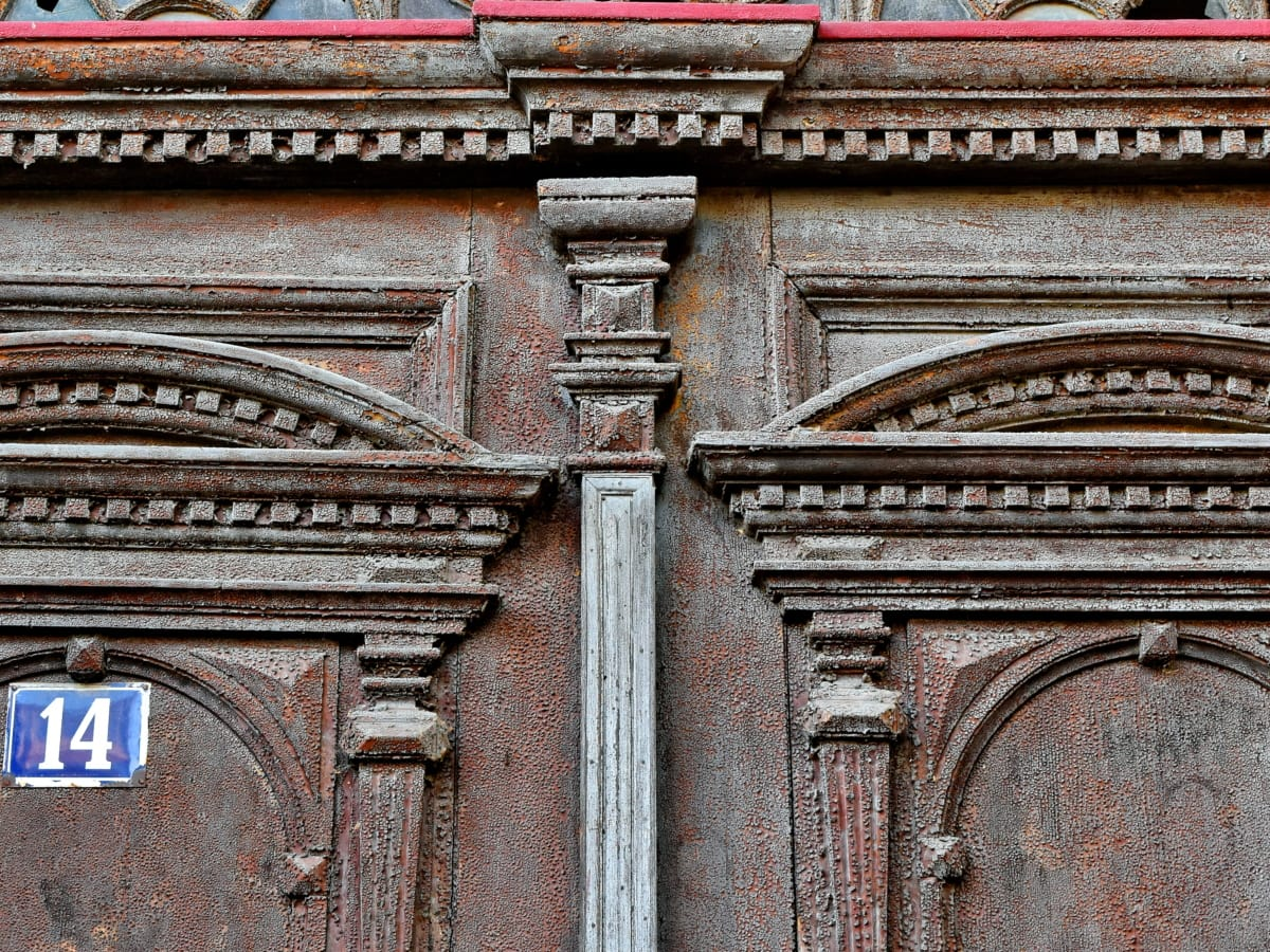 carpentry, carving, front door, hardwood, vintage, building, facade, architecture, old, temple