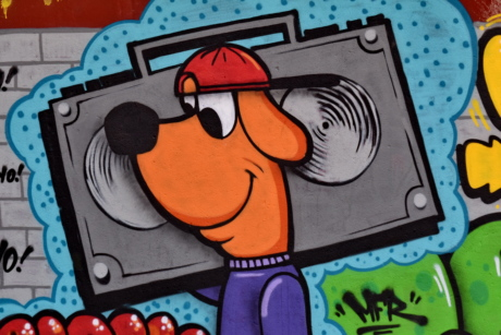 beautiful photo, dog, funny, graffiti, illustration, music, sketch, art, business, color