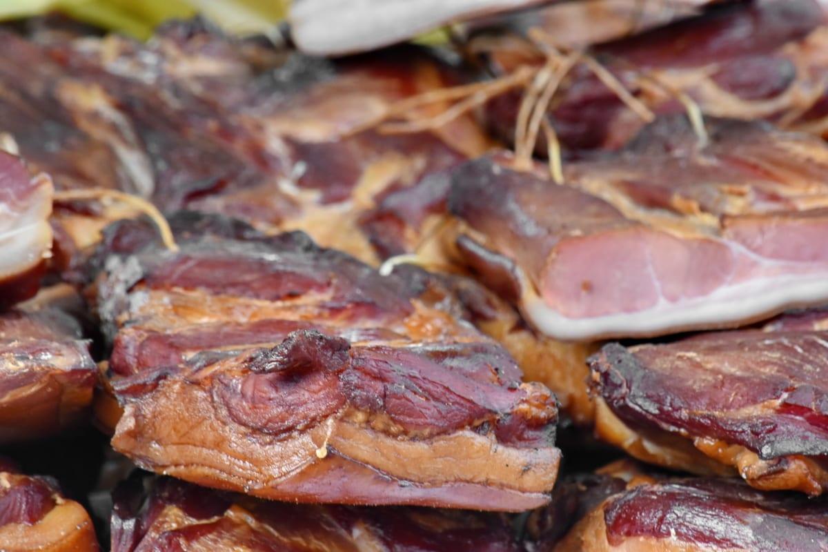 ベーコン, コレステロール, おいしい, 脂肪, ハム, 手作り, 肉, 有機, 豚肉, 牛肉