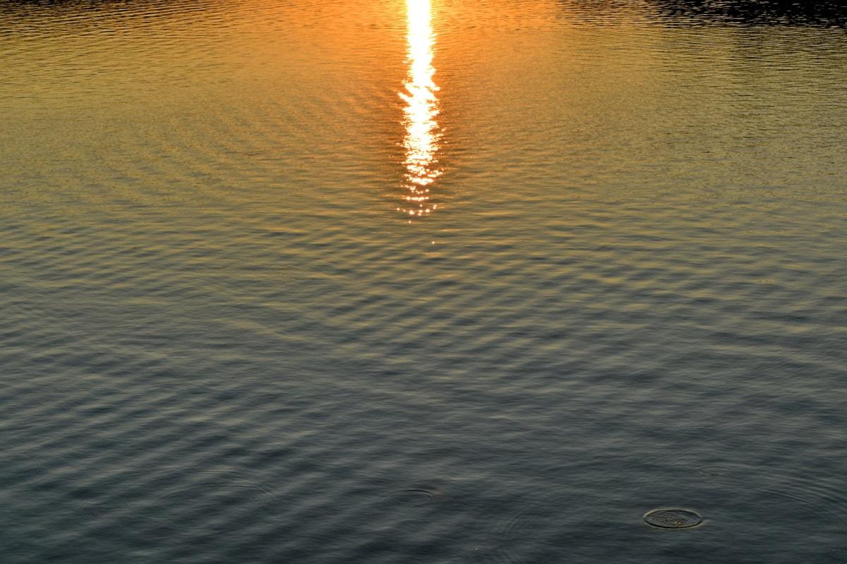 mirno, odraz, suncevi zraci, valovi, more, ocean, Sunce, voda, svjetlo, zalazak sunca