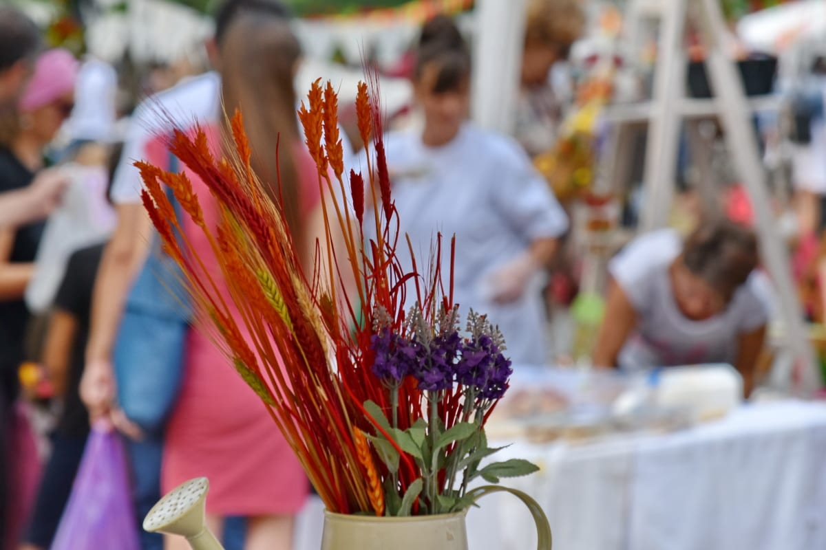 bouquet, decoration, dry, flower, still life, festival, arrangement, people, ritual, celebration