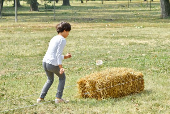 countryside, exercise, physical activity, pretty girl, agriculture, bale, beautiful, child, childhood, children