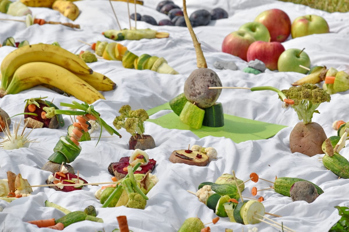 decoração, enfeite, salada, buffet de saladas, produtos hortícolas, comida, saúde, delicioso, cozinhar, nutrição