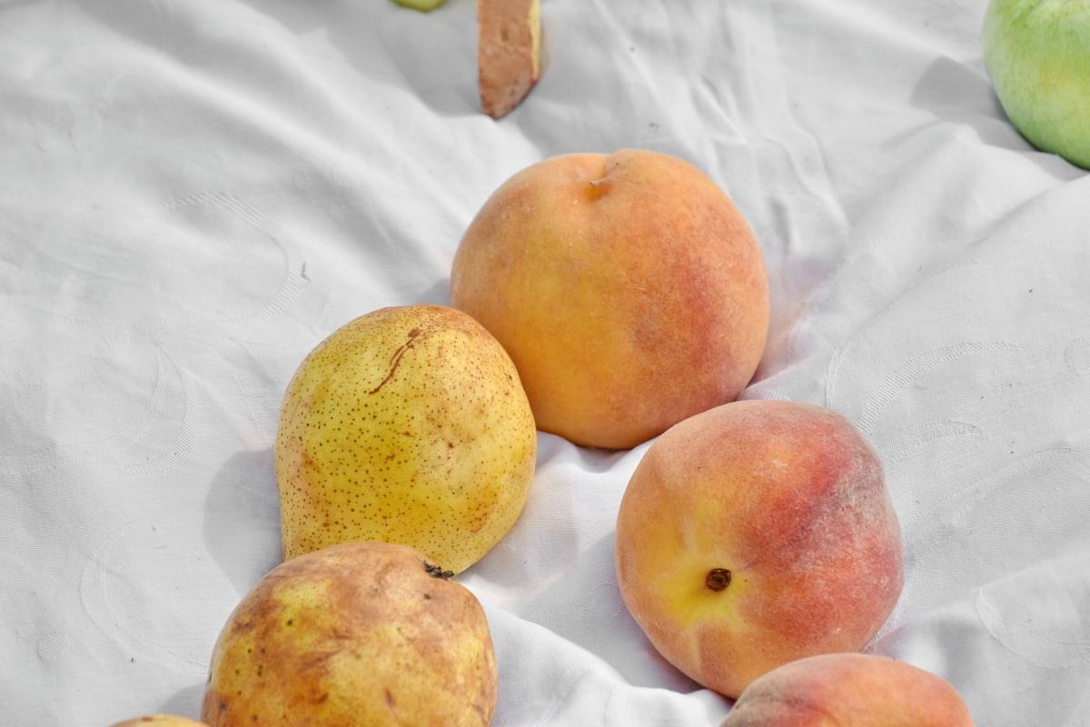 ovocie, hrušky, marhuľa, čerstvé, zdravé, broskyňa, jedlo, Výživa, zdravie, príroda