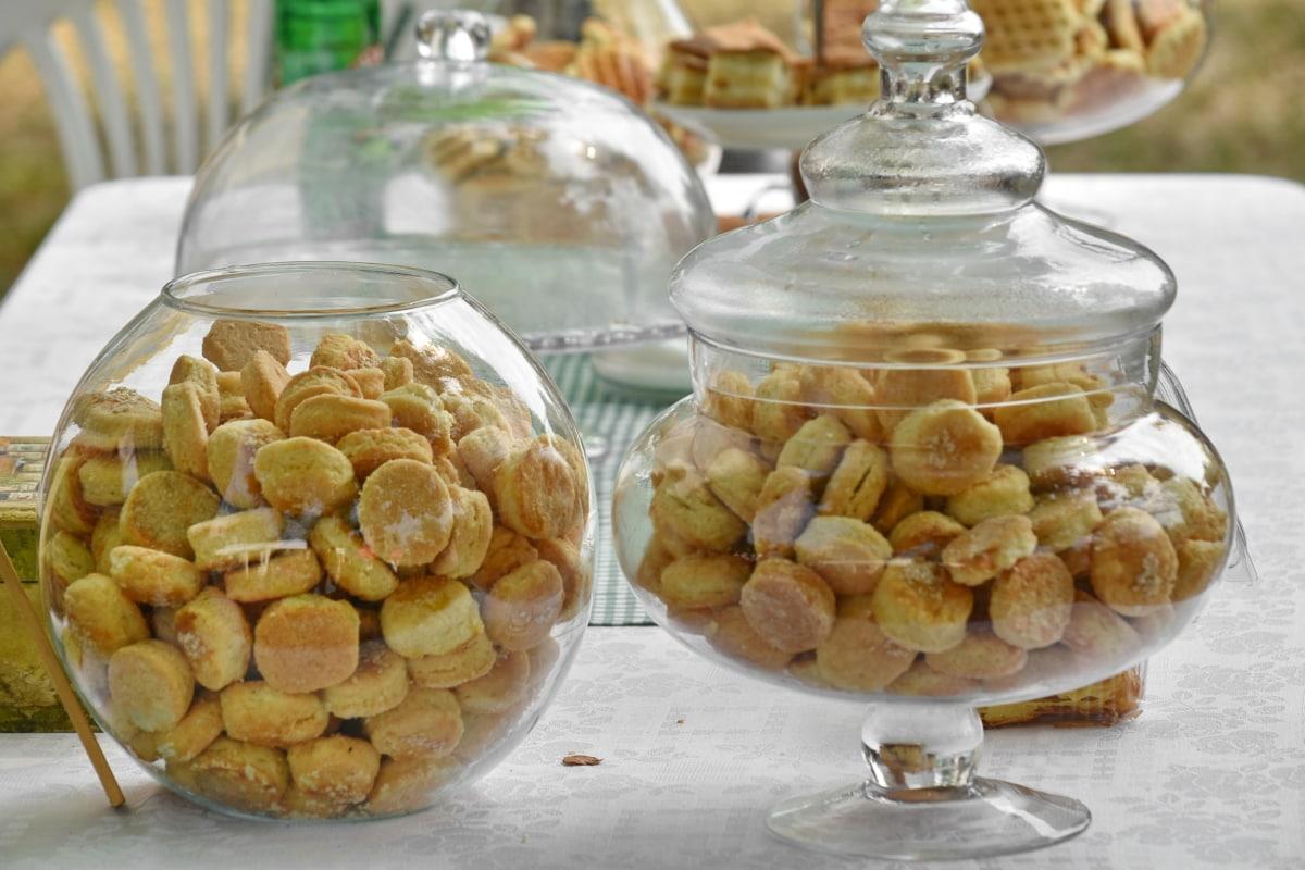 baked goods, bowl, cookies, merchandise, organic, pastry, glass, food, sweet, health