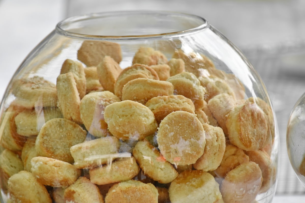 baked goods, bowl, cookies, glass, transparent, food, breakfast, meal, delicious, nutrition