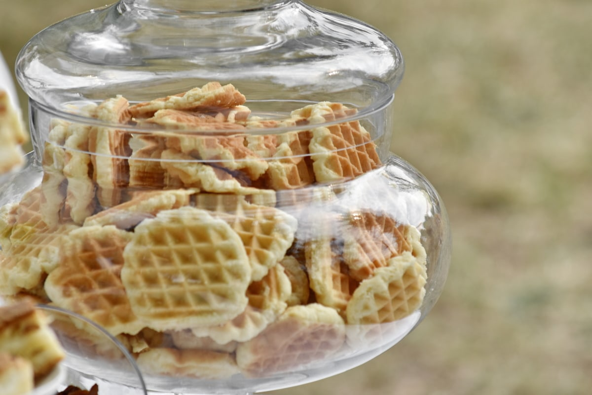 bowl, cookies, dessert, glass, handmade, nutritient, outdoor, transparent, food, sweet