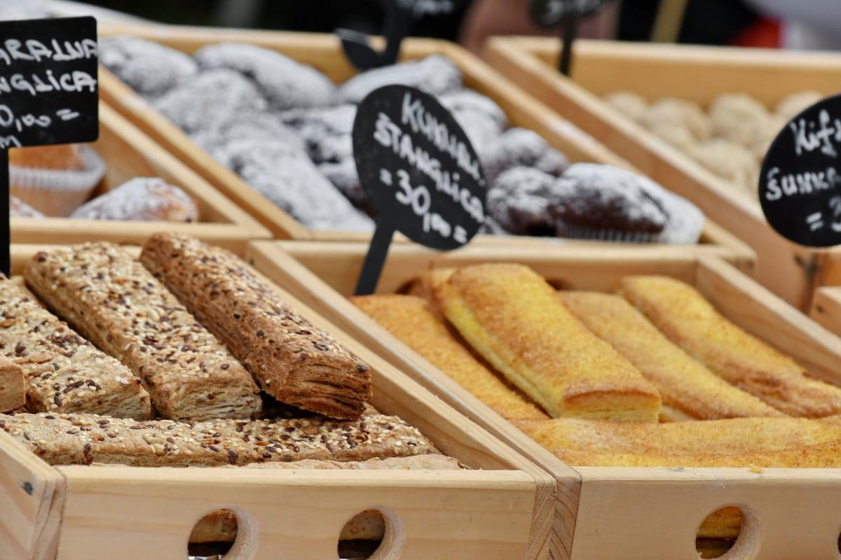 baked goods, cookies, delicious, dessert, merchandise, pastry, food, bread, baking, health