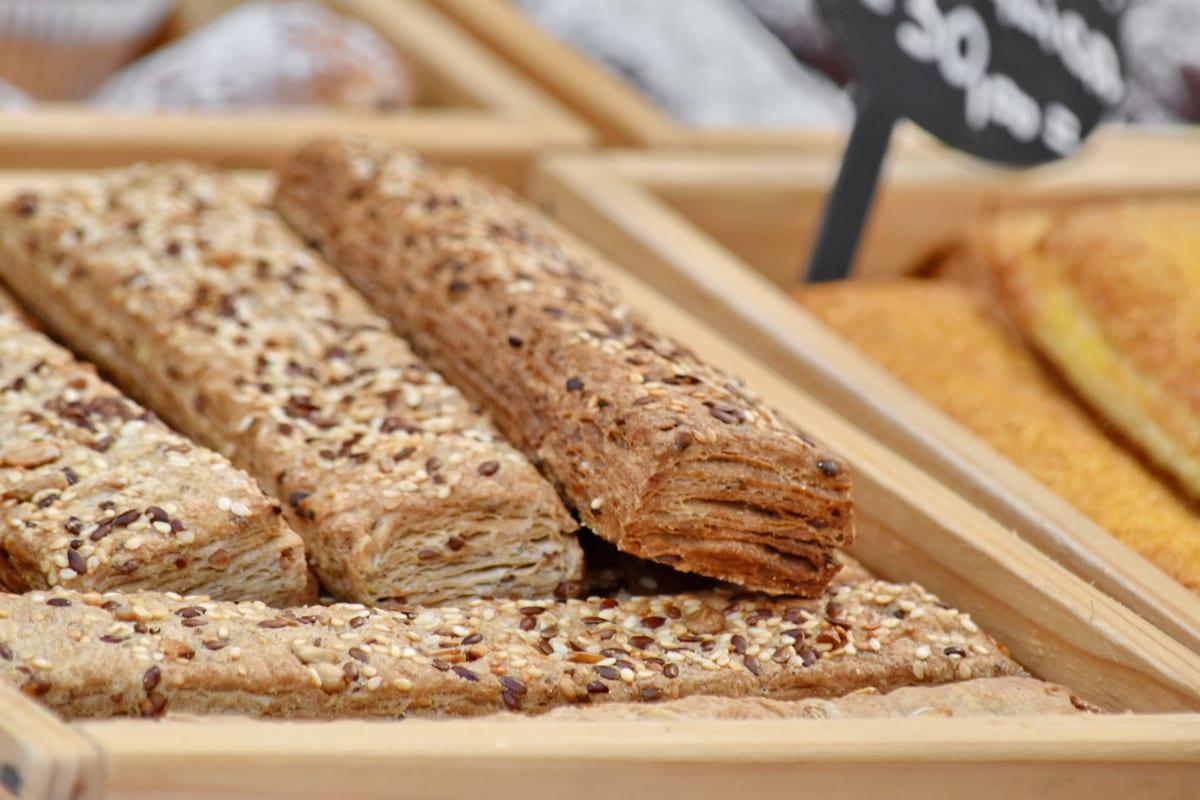 dipanggang, sereal, kue, buatan tangan, benih, Makanan Ringan, rempah-rempah, roti, Makanan, Sarapan
