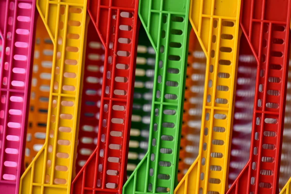 farverige, rack, plast, udstyr, forretning, farve, opbevaring, design, industri, marked