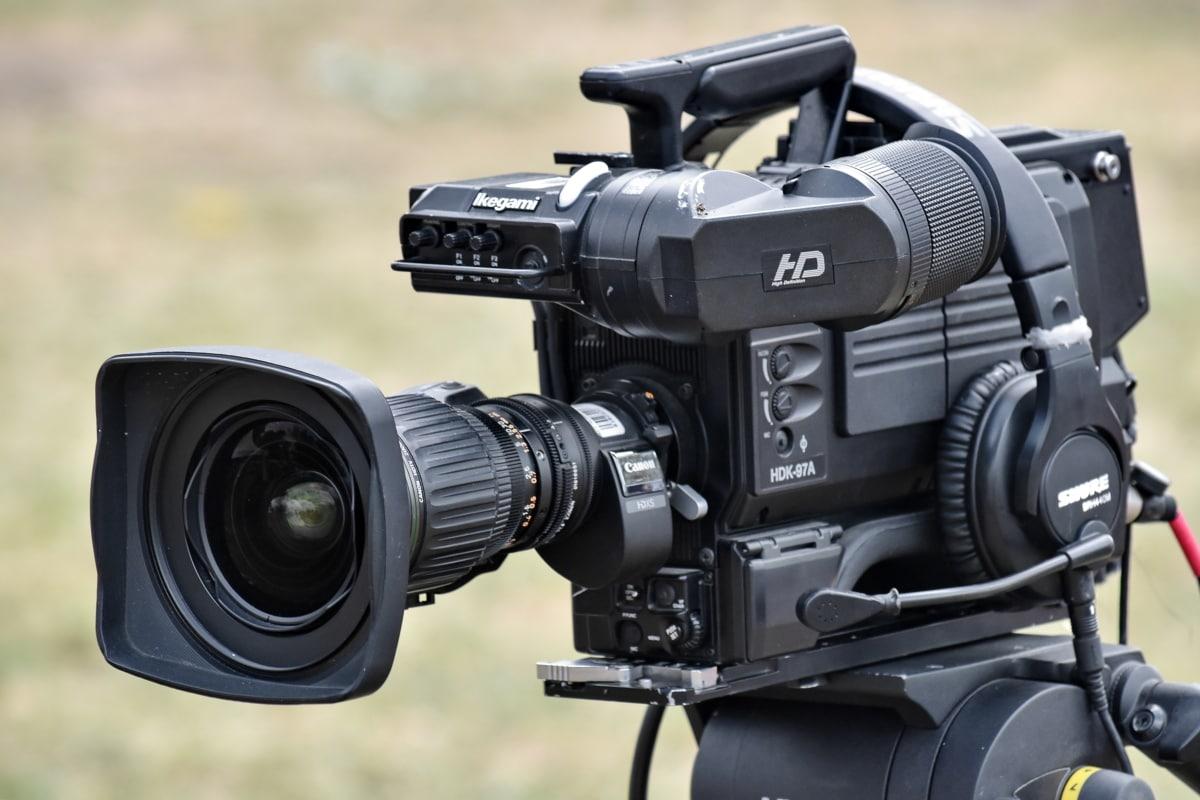 focus, media, television, television news, tripod, video recording, zoom, digital, film, lens