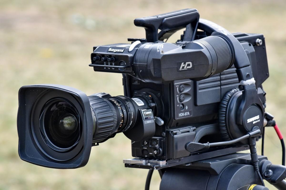 Cyfrowy aparat fotograficzny, materiał filmowy, statyw, Nagrywanie wideo, kamery, Sprzęt, Cyfrowy, obiektyw, Elektronika, kamery