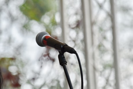 cable, microphone, music, sound, device, concert, nature, outdoors, performance, festival